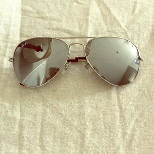 Authentic mirrored Ray Bans